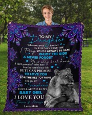"""Wherever Your Journey In Life Mom To Daughter Fleece Blanket - 50"""" x 60"""" aos-coral-fleece-blanket-50x60-lifestyle-front-01a"""