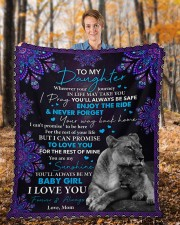 """Wherever Your Journey In Life Mom To Daughter Fleece Blanket - 50"""" x 60"""" aos-coral-fleece-blanket-50x60-lifestyle-front-01b"""