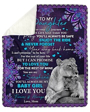 """Wherever Your Journey In Life Mom To Daughter Sherpa Fleece Blanket - 50"""" x 60"""" thumbnail"""