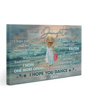 Personalized Name I Hope U Feel Small To Daughter Gallery Wrapped Canvas Prints tile
