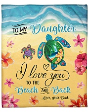 """I Love U To Beach And Back Turtle Dad To Daughter Fleece Blanket - 50"""" x 60"""" front"""