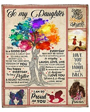 """Love you to the moon and back - Mom To Daughter Fleece Blanket - 50"""" x 60"""" front"""