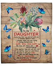 """My Love For U Is Forever Butterfly Dad To Daughter Fleece Blanket - 50"""" x 60"""" front"""