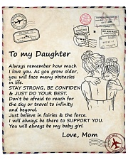"""Daughter Stay Strong Be Confiden Just Do Your Best Fleece Blanket - 50"""" x 60"""" front"""