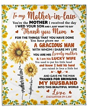 """MIL Thanks Mom For The Things That U Have Done Fleece Blanket - 50"""" x 60"""" front"""