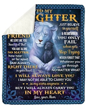 "I Asked God For A Best Friend Lion Mom To Daughter Sherpa Fleece Blanket - 50"" x 60"" thumbnail"