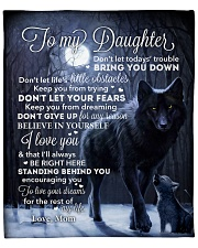 """Lion - Dont Let Your Fears - Mom-To-Daughter Fleece Blanket - 50"""" x 60"""" front"""