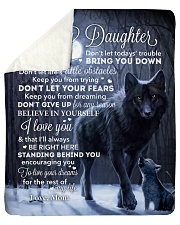 """Lion - Dont Let Your Fears - Mom-To-Daughter Sherpa Fleece Blanket - 50"""" x 60"""" thumbnail"""