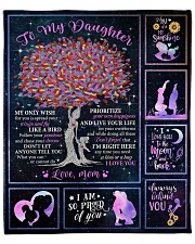 """I am so pround of you Mom-To-Daughter Fleece Blanket - 50"""" x 60"""" front"""