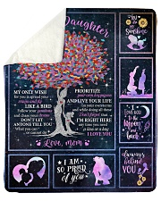 I am so pround of you Mom-To-Daughter Sherpa Fleece Blanket tile