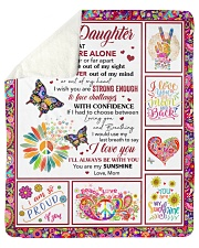 """Never Feel That You Are Alone Mom To Daughter Sherpa Fleece Blanket - 50"""" x 60"""" thumbnail"""