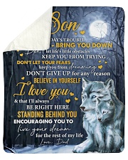 Don't Let Today's Trouble Wolf Dad To Son Sherpa Fleece Blanket tile