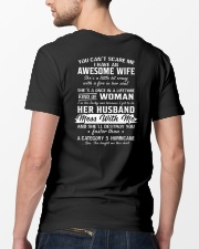 I Have An Awesome Wife Classic T-Shirt lifestyle-mens-crewneck-back-5