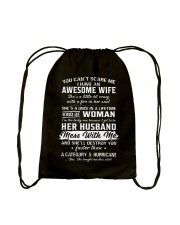 I Have An Awesome Wife Drawstring Bag thumbnail