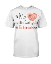 My heart is filled with your footprints Classic T-Shirt thumbnail