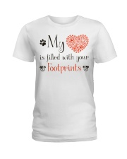 My heart is filled with your footprints Ladies T-Shirt front