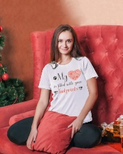 My heart is filled with your footprints Ladies T-Shirt lifestyle-holiday-womenscrewneck-front-2