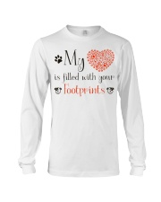 My heart is filled with your footprints Long Sleeve Tee thumbnail
