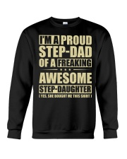 I'm A Proud Stepdad Of A Awesome Stepdaughter Crewneck Sweatshirt thumbnail