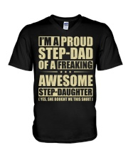 I'm A Proud Stepdad Of A Awesome Stepdaughter V-Neck T-Shirt thumbnail