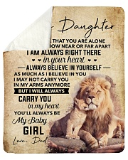 """Never Feel That You Are Alone Dad To Daughter Sherpa Fleece Blanket - 50"""" x 60"""" thumbnail"""