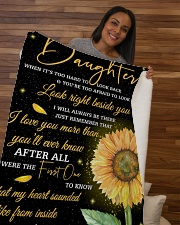 """To My Daughter Sherpa Fleece Blanket - 50"""" x 60"""" aos-sherpa-fleece-blanket-50x60-lifestyle-front-09b"""