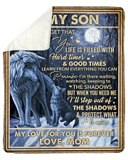 "Never Forget That I Love You Wolf Mom To Son Sherpa Fleece Blanket - 50"" x 60"" thumbnail"