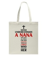 Never Underestimate A Nana Tote Bag thumbnail