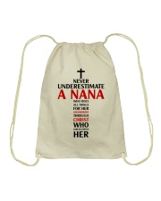 Never Underestimate A Nana Drawstring Bag thumbnail