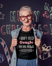 I don't need google my dog knows everything Ladies T-Shirt lifestyle-holiday-crewneck-front-3