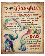 """Everyday I Think About U Dad To Daughter Fleece Blanket - 50"""" x 60"""" front"""
