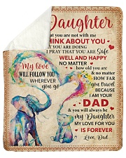 """Everyday I Think About U Dad To Daughter Sherpa Fleece Blanket - 50"""" x 60"""" thumbnail"""