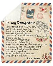 "Big hug-Never forget that I love U Mom-To-Daughter Sherpa Fleece Blanket - 50"" x 60"" thumbnail"