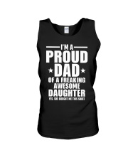 I'm Proud Dad Of A Freaking Awesome Daughter Unisex Tank thumbnail