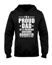 I'm Proud Dad Of A Freaking Awesome Daughter Hooded Sweatshirt thumbnail