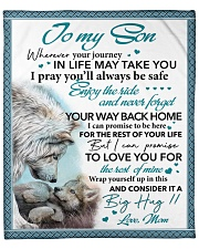 """Whenever Your Journey In Life May Take U Mom Son Fleece Blanket - 50"""" x 60"""" front"""