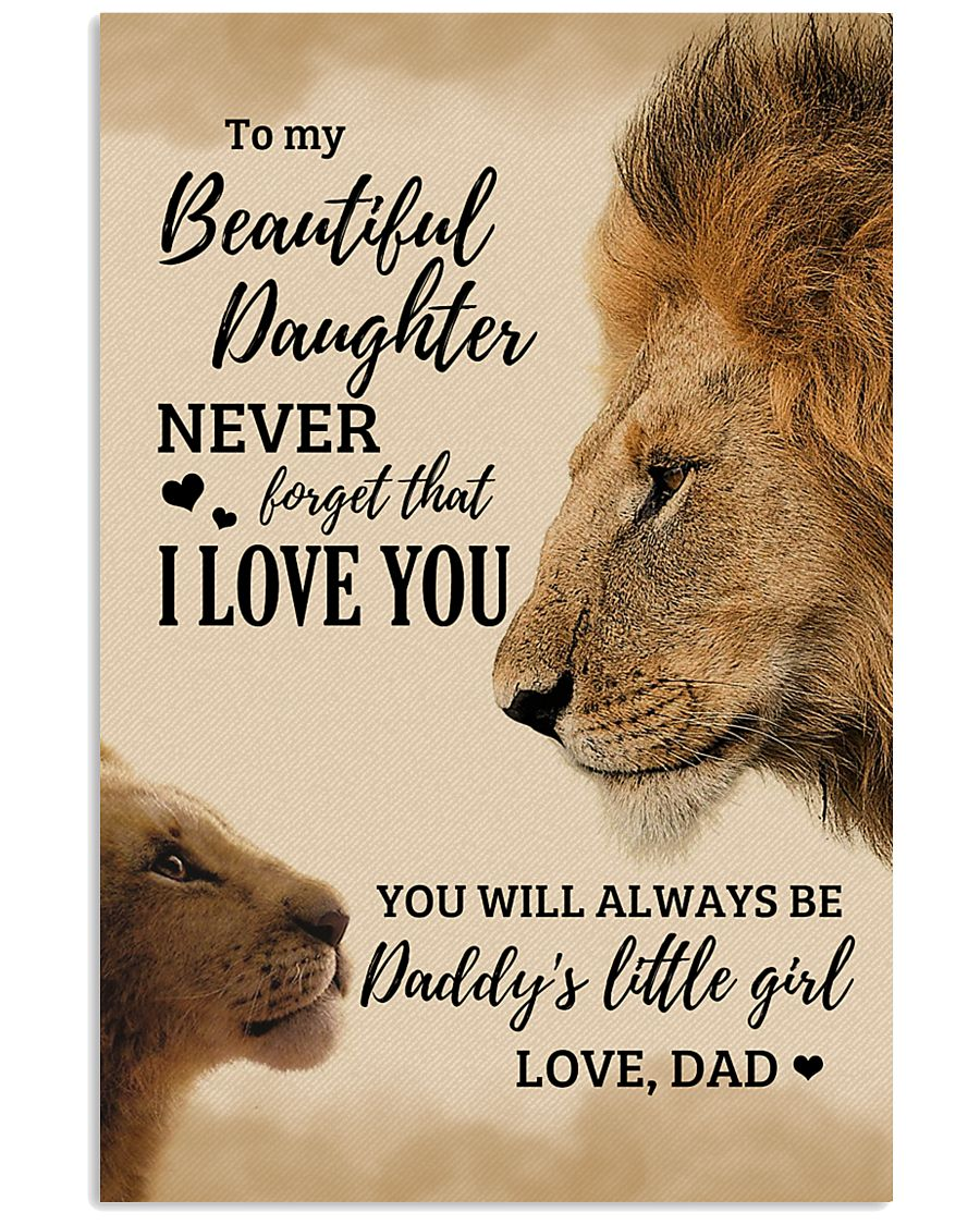 To My Beautiful Daughter 11x17 Poster