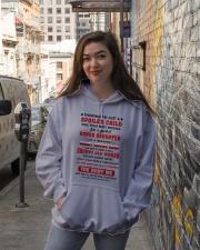 Spoiled Bonus Daughter Of AFreaking Crazy BonusMom Hooded Sweatshirt lifestyle-unisex-hoodie-front-1