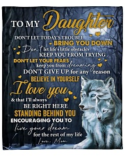 """Don't Let Today's Trouble Wolf Mom To Daughter Fleece Blanket - 50"""" x 60"""" front"""