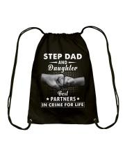Step Dad And Daughter Drawstring Bag thumbnail