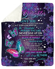 Never Forget That I Love You - Mom To Daughter Sherpa Fleece Blanket tile