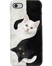 yin yang Cats Black and White Phone Case thumbnail