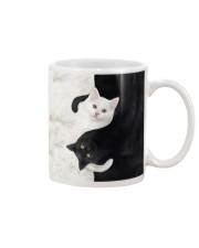 yin yang Cats Black and White Mug thumbnail