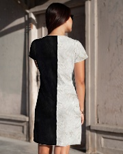 yin yang Cats Black and White All-over Dress aos-dress-back-lifestyle-1