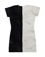 yin yang Cats Black and White All-over Dress back