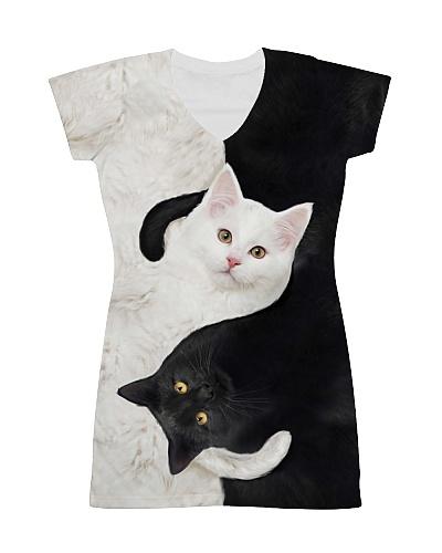 yin yang Cats Black and White