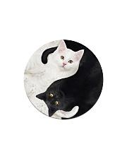 yin yang Cats Black and White Circle Magnet thumbnail