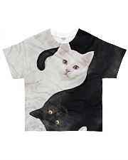 yin yang Cats Black and White All-over T-Shirt thumbnail