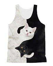 yin yang Cats Black and White All-over Unisex Tank thumbnail