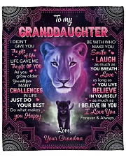 "I Didn't Give U The Gift Of Life To Granddaughter Fleece Blanket - 50"" x 60"" front"